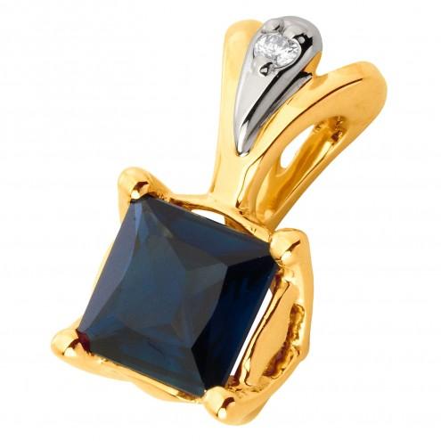 Підвіска з діамантами та кольоровим камінням 389-0808