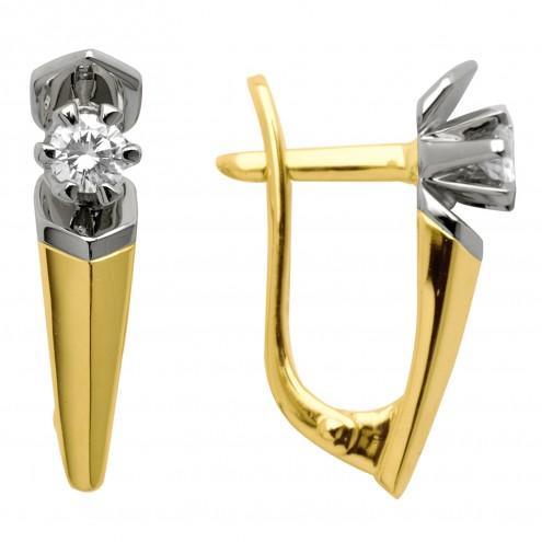 Сережки з 1 діамантом 422-0263