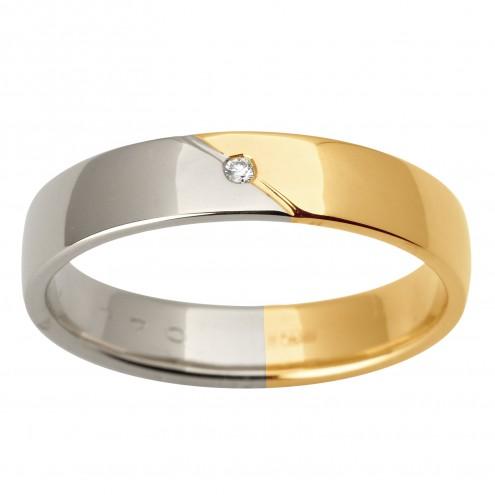 Обручка з 1 діамантом 621-1526