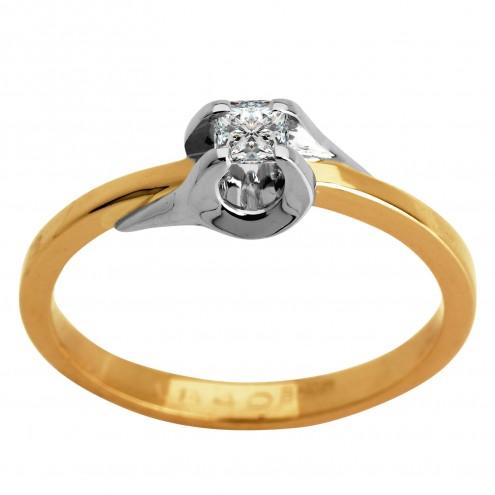 Каблучка з 1 діамантом 821-0877.12