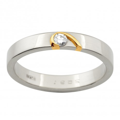 Обручка з 1 діамантом 821-1047
