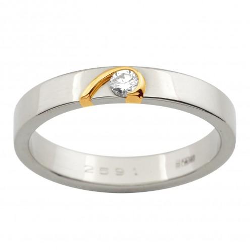 Обручка з 1 діамантом 821-1051