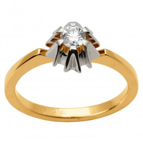 Каблучка з 1 діамантом 821-1498