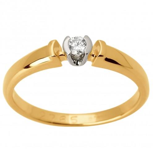 Каблучка з 1 діамантом 821-1567