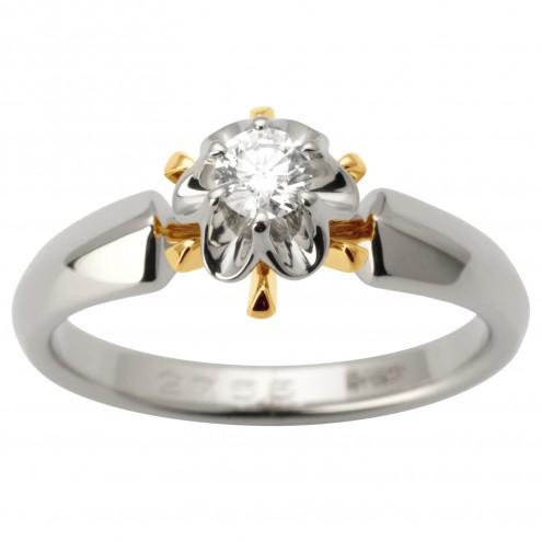 Каблучка з 1 діамантом 821-1655
