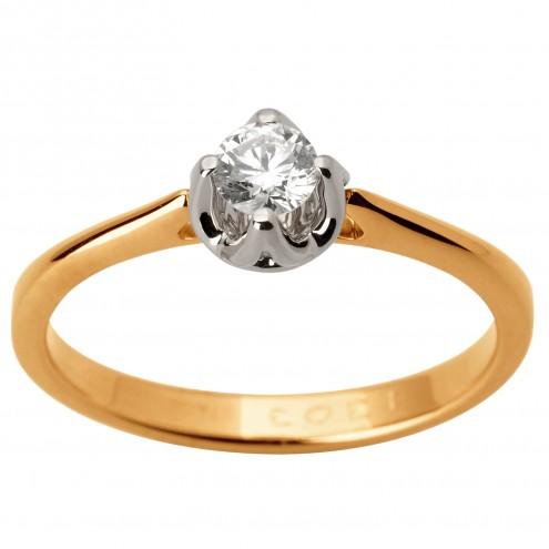 Каблучка з 1 діамантом 821-1742
