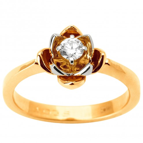 Каблучка з 1 діамантом 821-1837