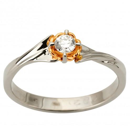 Каблучка з 1 діамантом 821-1885