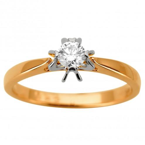 Каблучка з 1 діамантом 821-1937