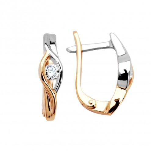 Сережки з 1 діамантом 822-0255