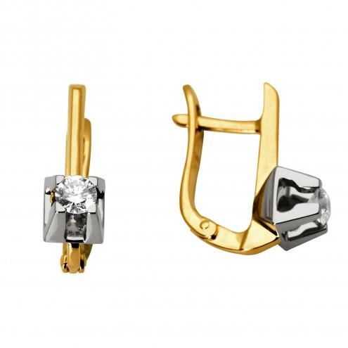 Сережки з 1 діамантом 822-0445