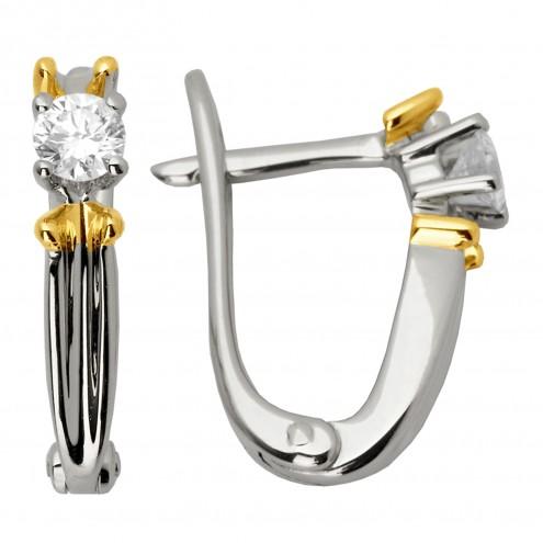 Сережки з 1 діамантом 822-0597