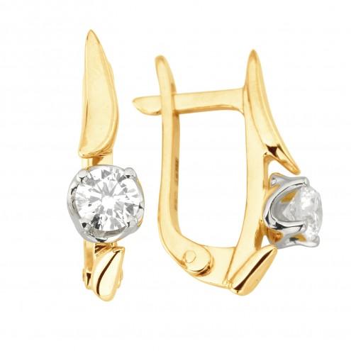 Сережки з 1 діамантом 822-1236
