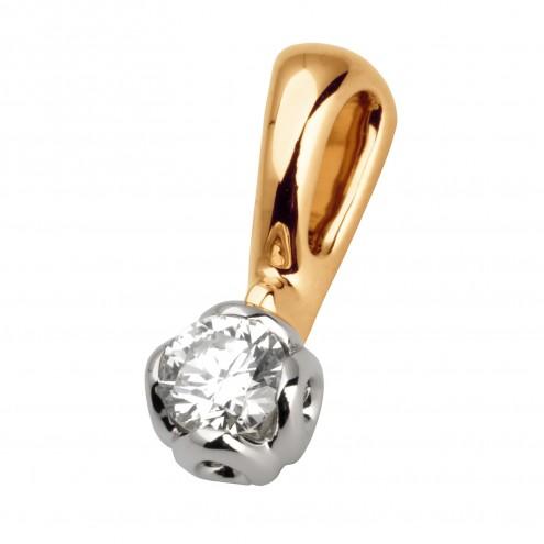 Підвіска з 1 діамантом 829-0642