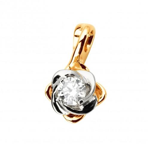 Підвіска з 1 діамантом 829-0786