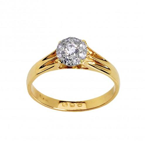 Каблучка з декількома діамантами 841-0142