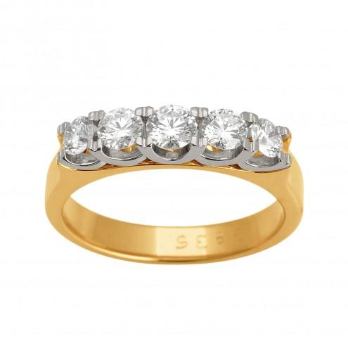 Каблучка з декількома діамантами 841-0595