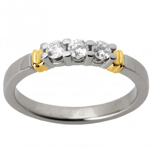Каблучка з декількома діамантами 841-1264