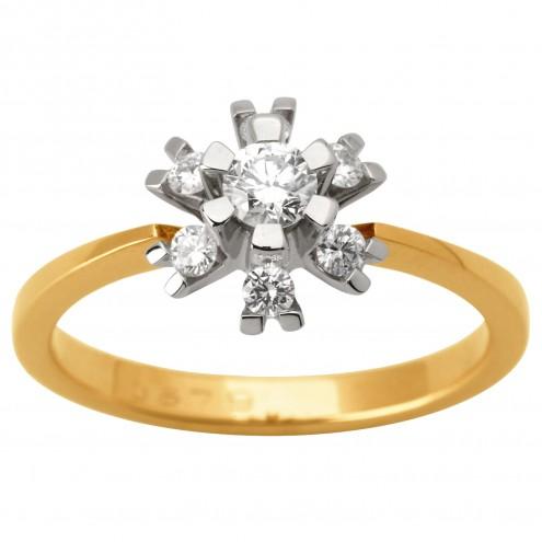 Каблучка з декількома діамантами 841-1626