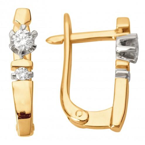 Сережки з декількома діамантами 842-0791
