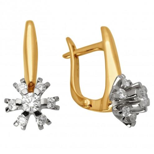 Сережки з декількома діамантами 842-0894