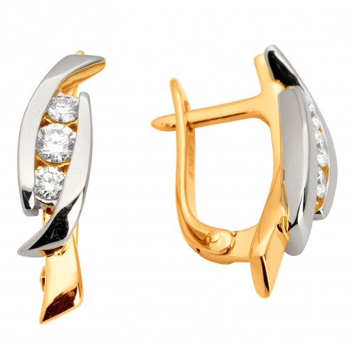 Сережки з декількома діамантами 842-0965