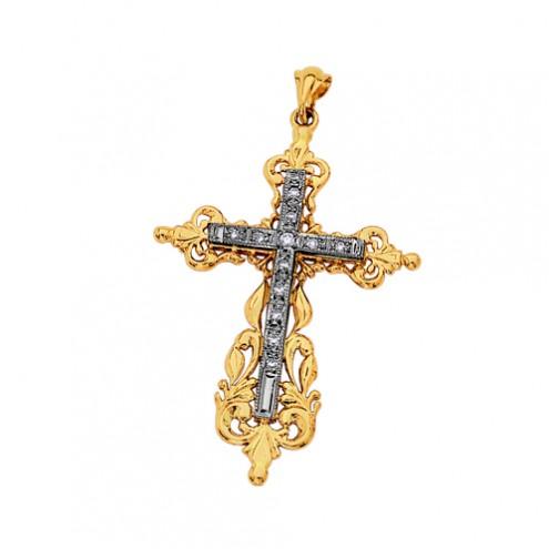 Хрест з декількома діамантами 849-0016