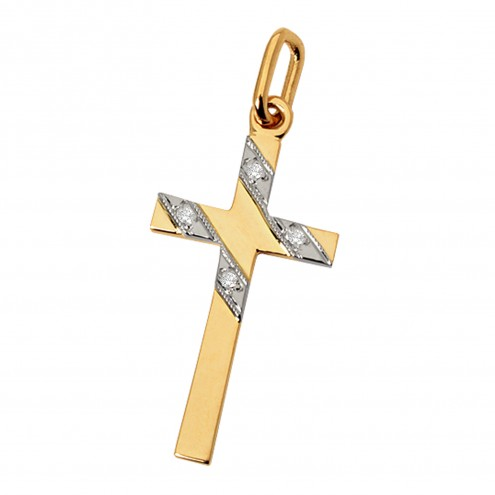 Хрест з декількома діамантами 849-0023