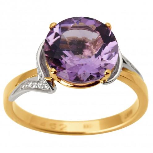 Каблучка з діамантами та кольоровим камінням 881-1776