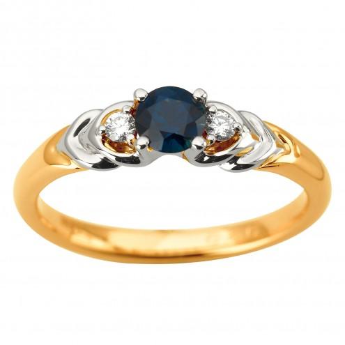 Каблучка з діамантами та кольоровим камінням 881-1940