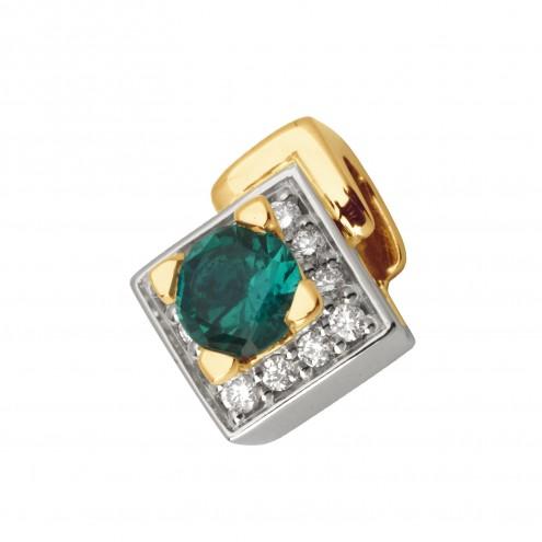 Підвіска з діамантами та кольоровим камінням 889-0588