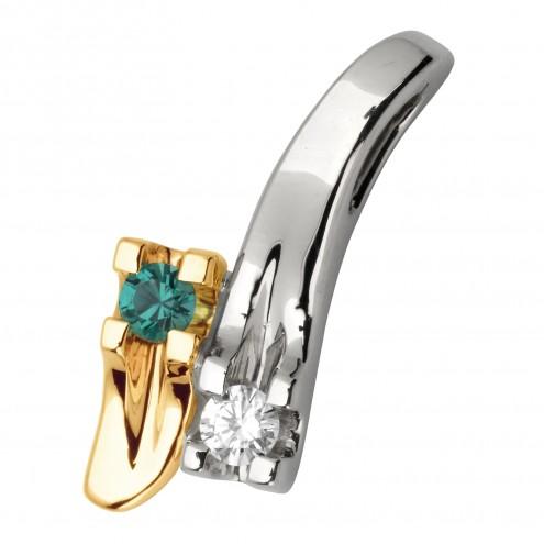 Підвіска з діамантами та кольоровим камінням 889-0589
