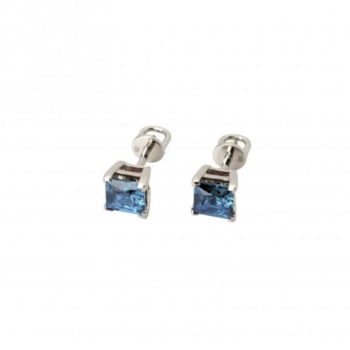 Сережки з кольоровим камінням 902-0241