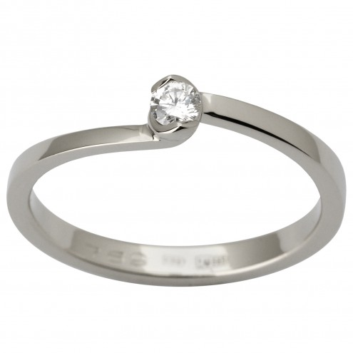Каблучка з 1 діамантом 921-1809