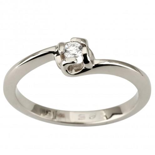 Каблучка з 1 діамантом 921-1886