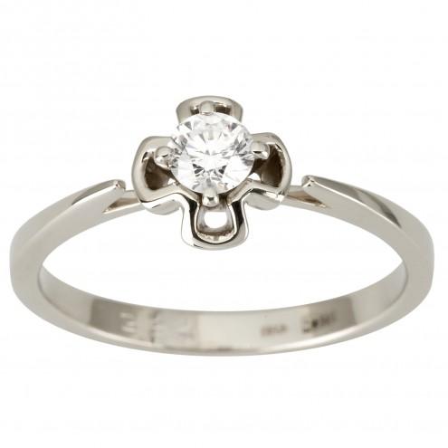 Каблучка з 1 діамантом 921-1892