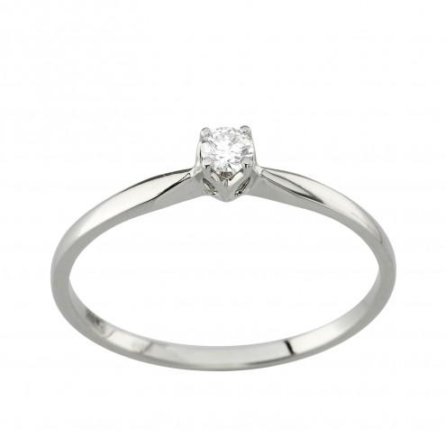 Каблучка з 1 діамантом 921-1979