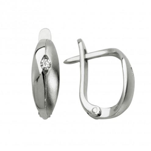 Сережки з 1 діамантом 922-0149