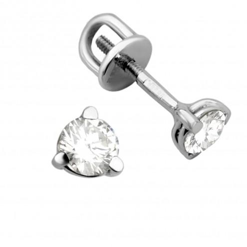 Сережки з 1 діамантом 922-0243