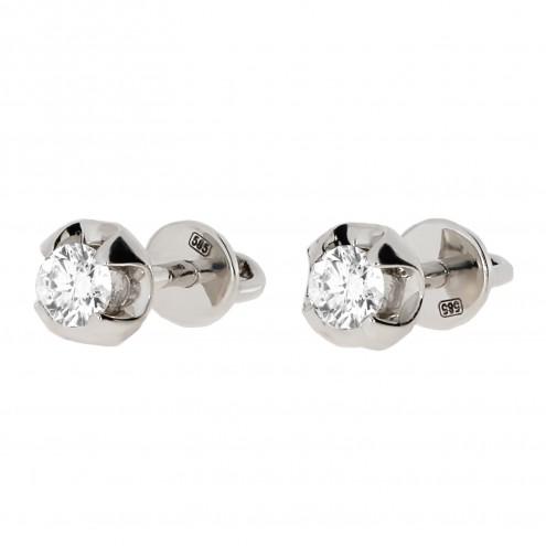 Сережки з 1 діамантом 922-0297