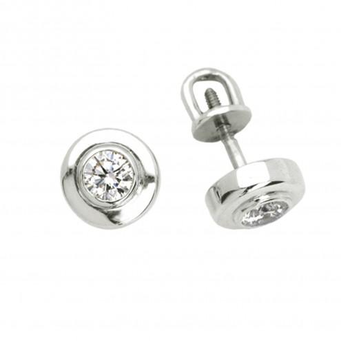 Сережки з 1 діамантом 922-0312