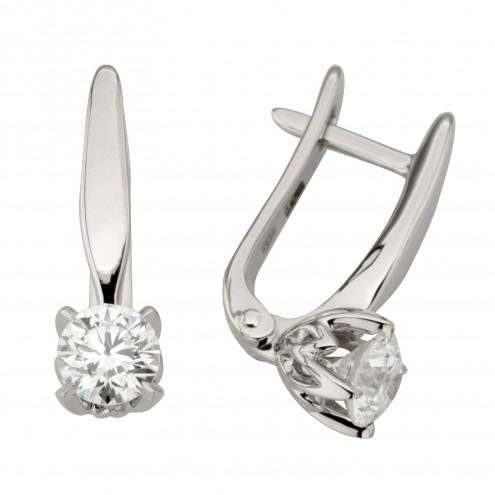 Сережки з 1 діамантом 922-0485