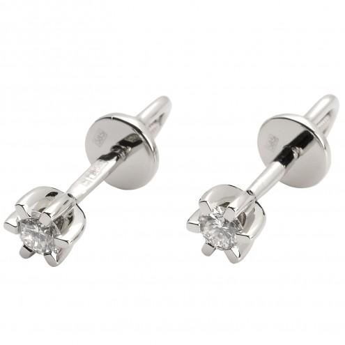 Сережки з 1 діамантом 922-0835