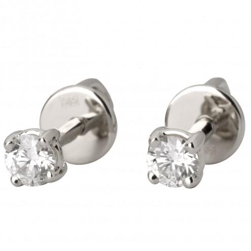 Сережки з 1 діамантом 922-0962