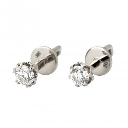 Сережки з 1 діамантом 922-1103
