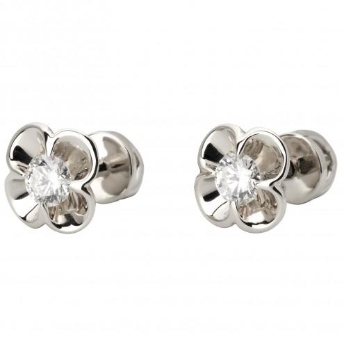 Сережки з 1 діамантом 922-1105