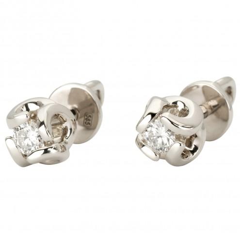 Сережки з 1 діамантом 922-1140