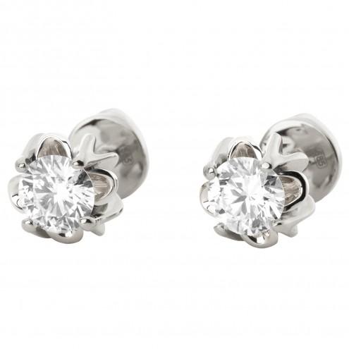 Сережки з 1 діамантом 922-1165