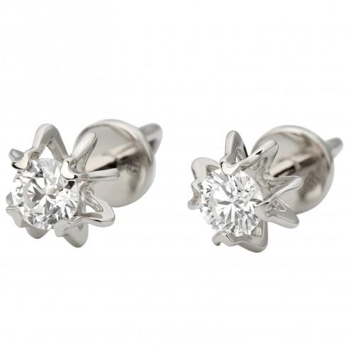 Сережки з 1 діамантом 922-1183