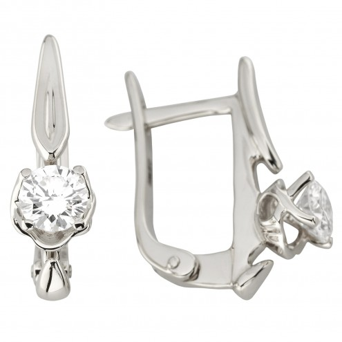 Сережки з 1 діамантом 922-1200